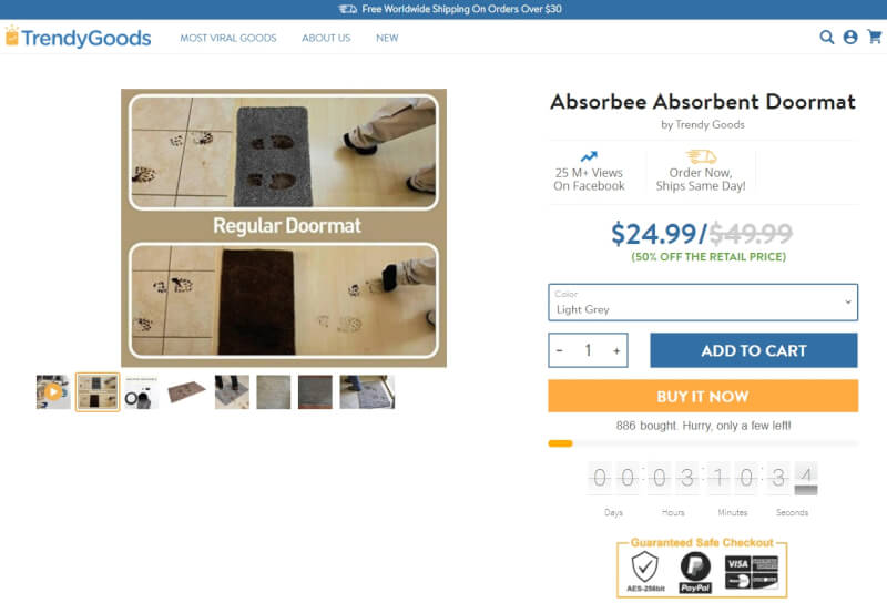 trendygoods product page