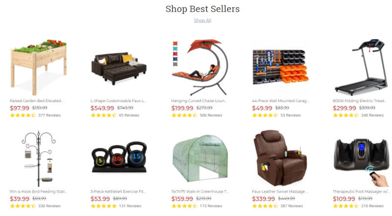 Best Choice Products best sellers dropshipping