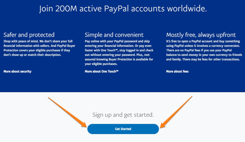 open paypal account