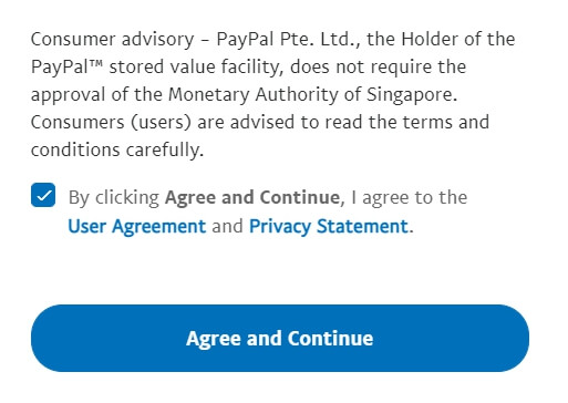 paypal user agreement