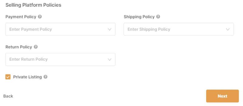 selling platform policies autods