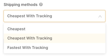 shipping methods autods