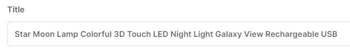 ebay item title