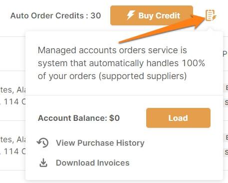 add balance ebay auto orders