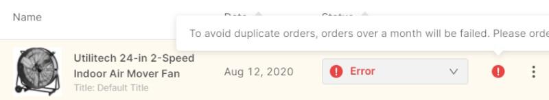 failed ebay order autods
