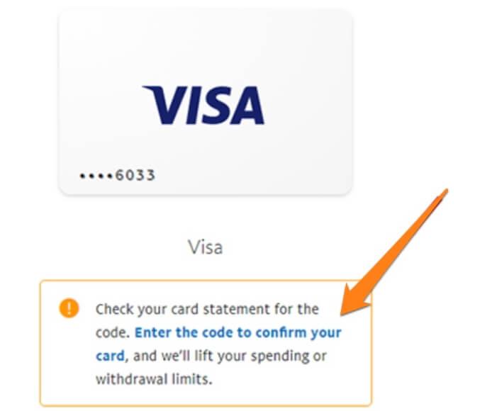paypal enter cc code