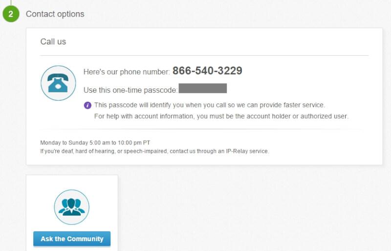 ebay contact options