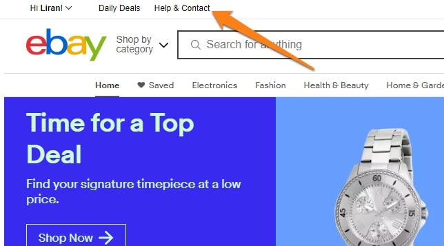 ebay help contact