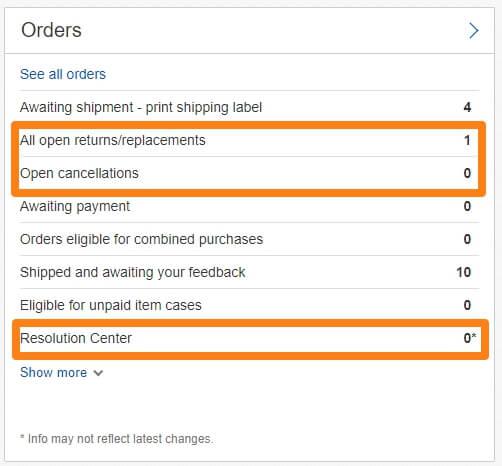 ebay open returns