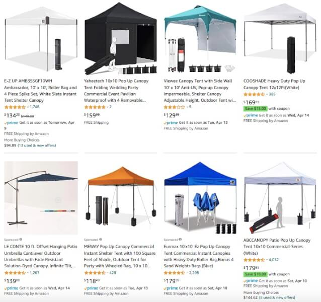 Canopies Dropshipping