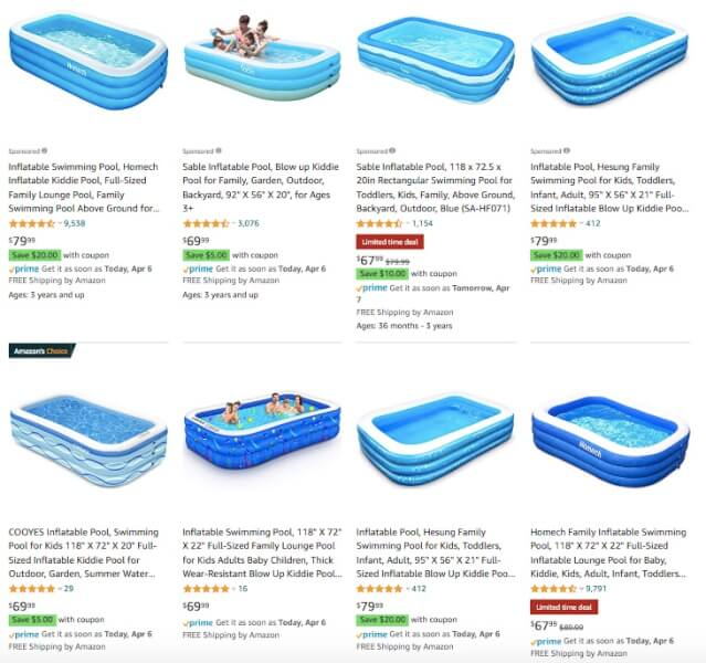 Inflatable Swimming Pool products to sell