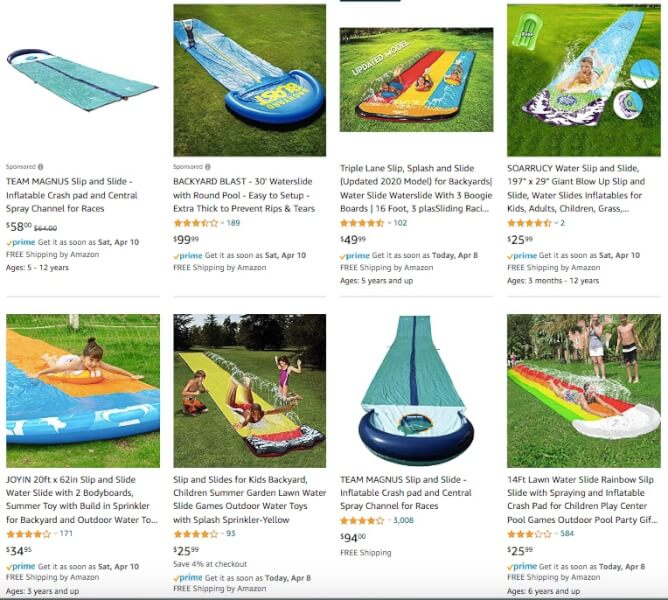 Slip and Slides Hot Products to Sell