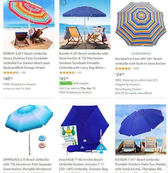 Beach UmbrellasOnline Sellers