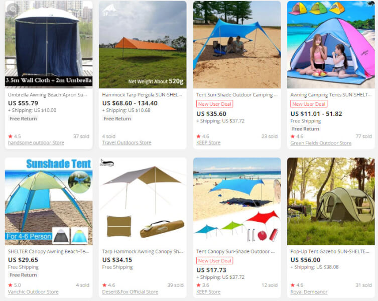 Beach Tents Dropshipping Products