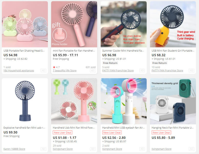 Handheld Fans Items To Sell