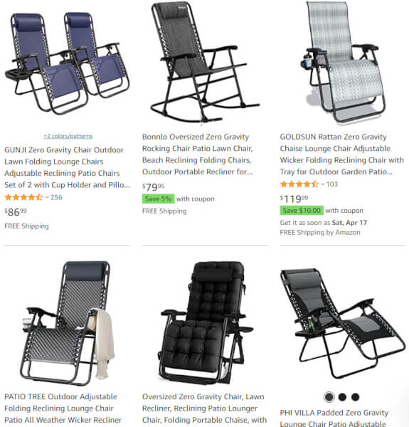 Reclining Patio Chairs Dropshipping Products