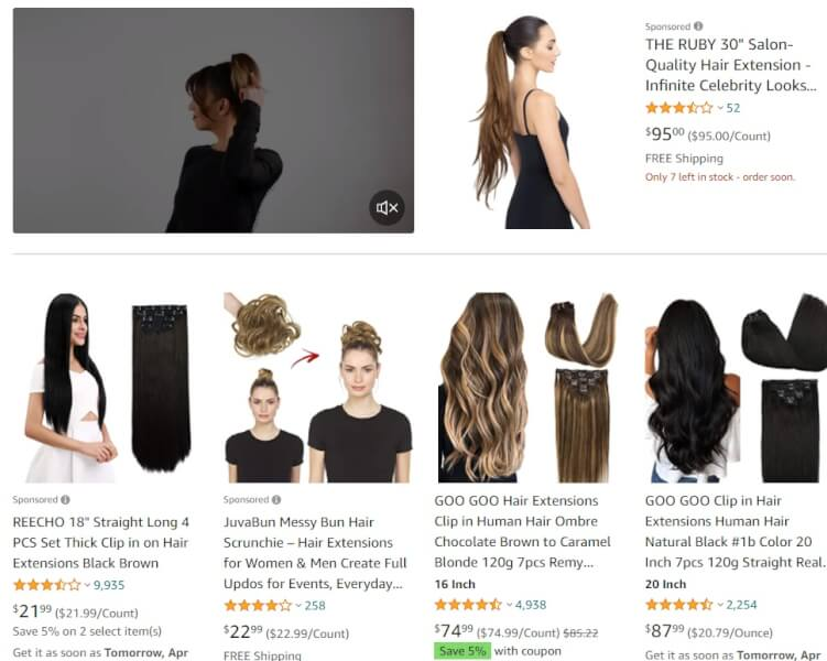 Hair Extensions Dropshipping Products