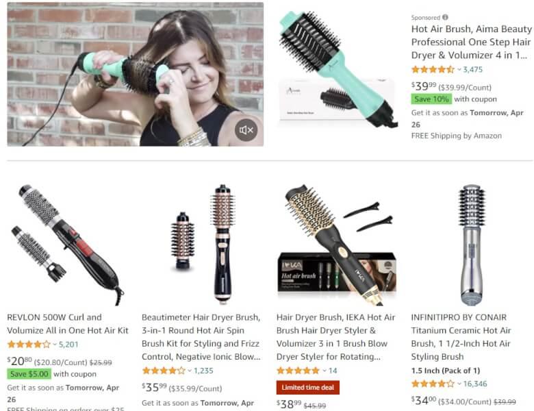 Hot-Air Hair Brush Dropshipping Products