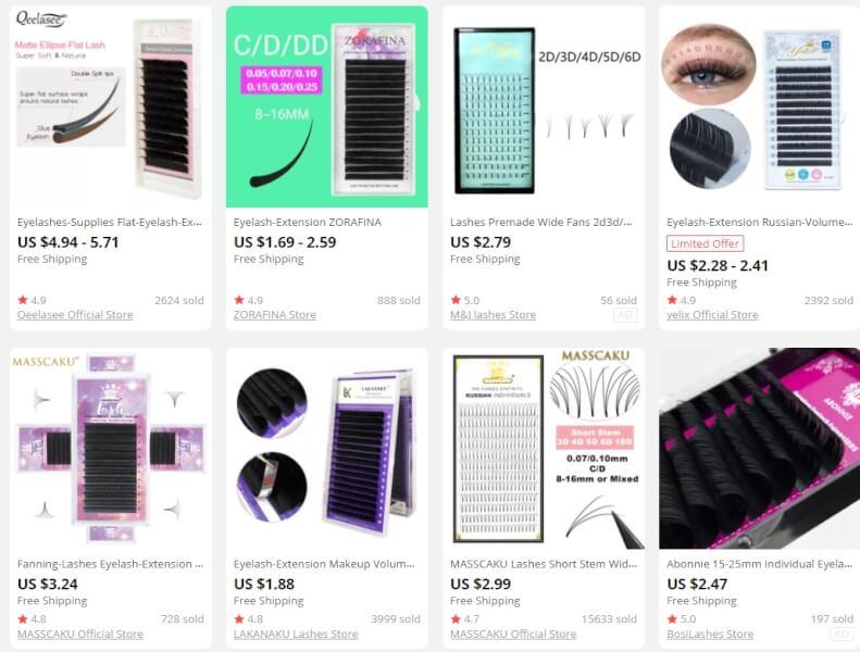 Lash Extensions online stores