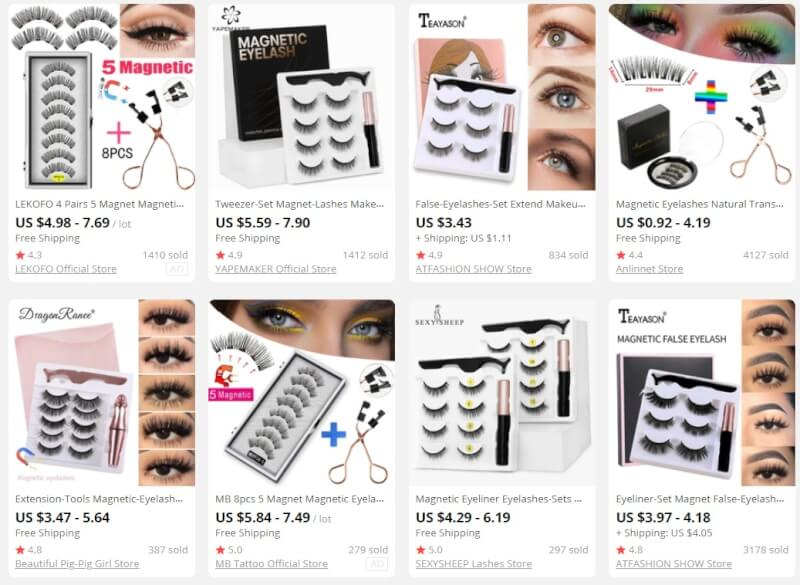 Magnetic Lashes dropship products to sell