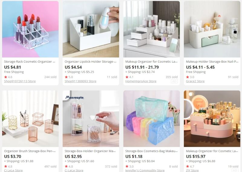 Makeup Organizers beauty products to sell