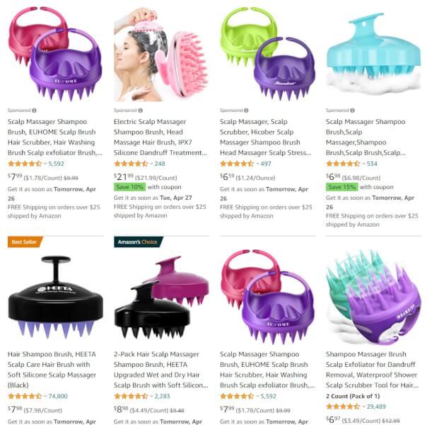Scalp Massager Shampoo Brush Online Store