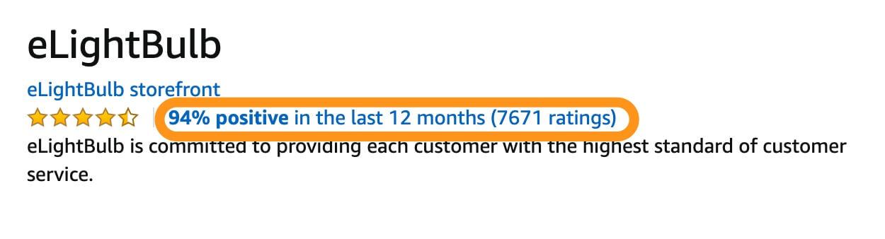 seller ratings amazon