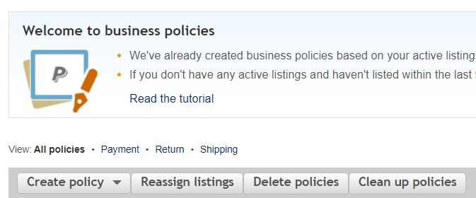 ebay australia business policies