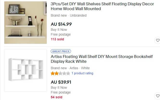 ebay australia listings