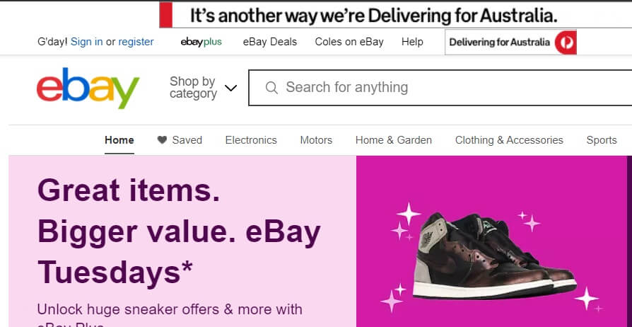 sell items ebay australia