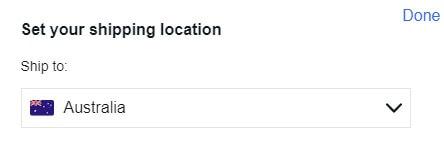 ebay australia shipping location