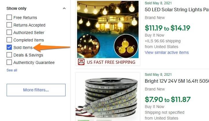 ebay sold items australia