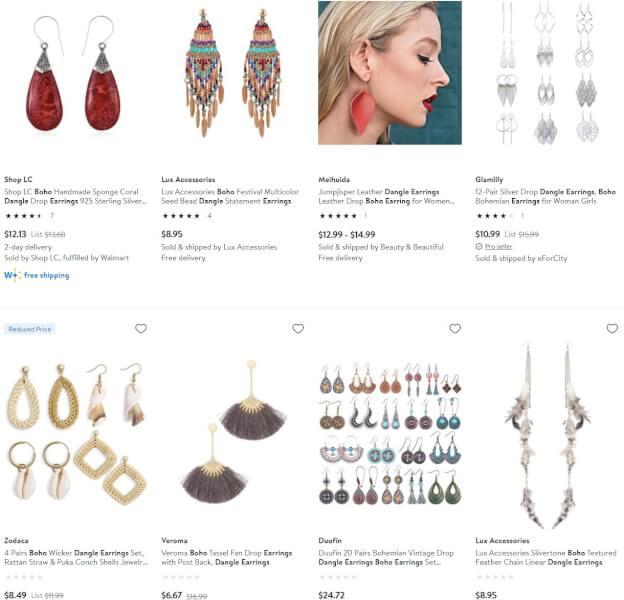 Boho Dangle Earrings jewelry dropshippers