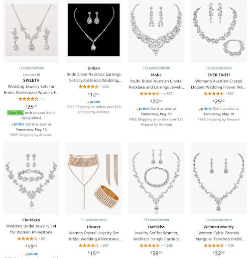 Bridal Jewelry Sets online seller