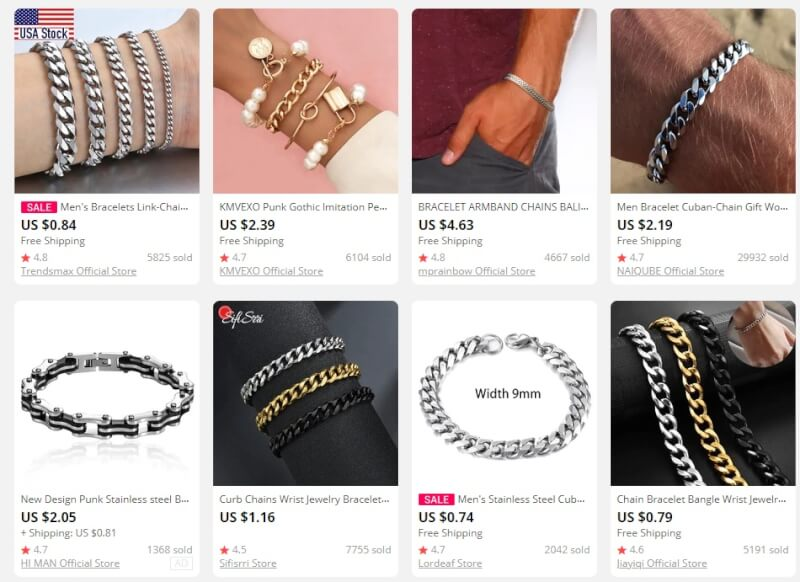 Chain Bracelets dropshipping