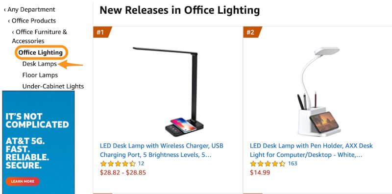 dropship amazon desk lamps