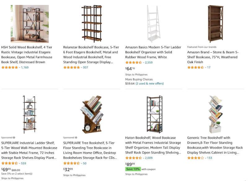 bookshelves dropshipping ecommerce
