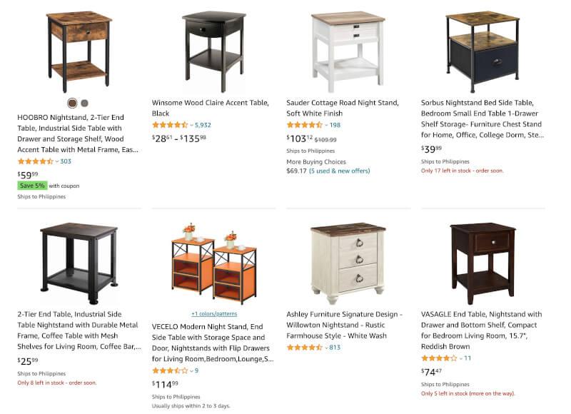 nightstands droshipigging sales