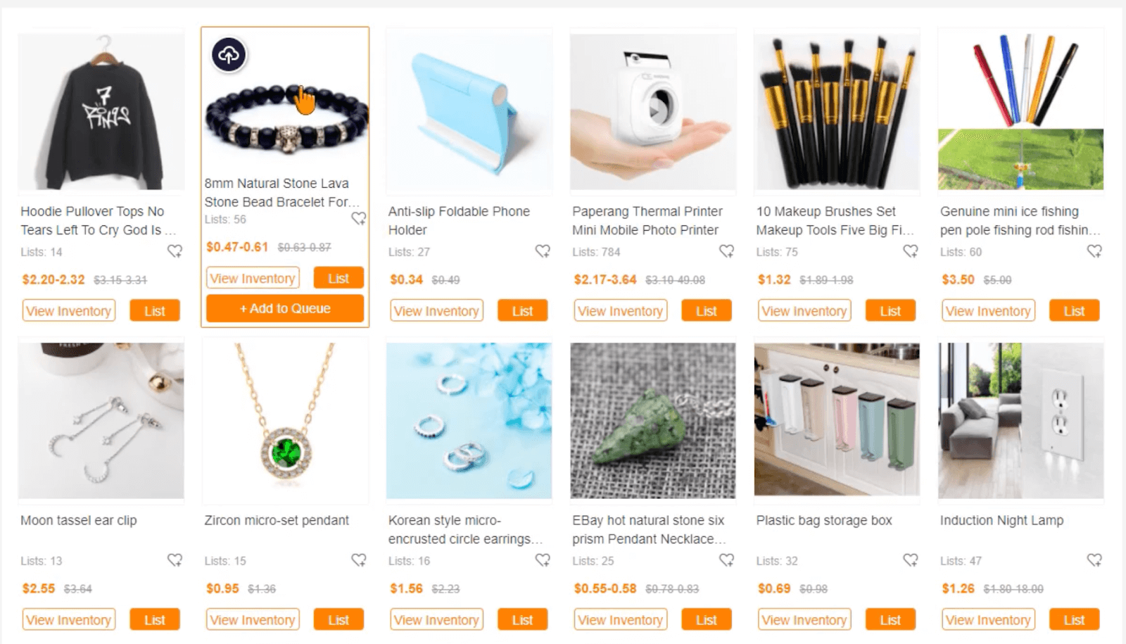 choose product ecommerce
