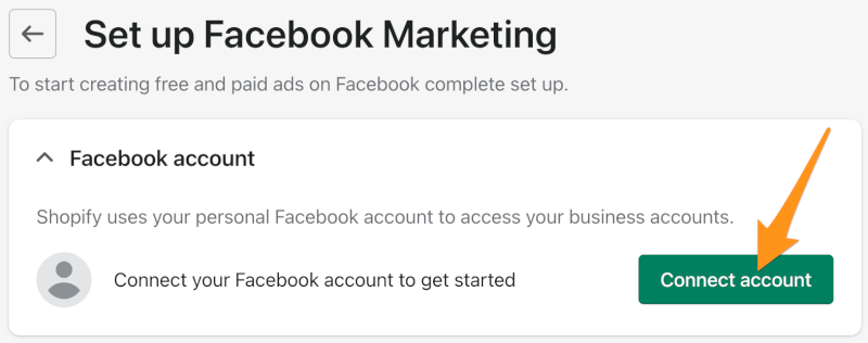 connect facebook account