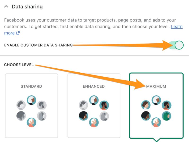 data sharing facebook