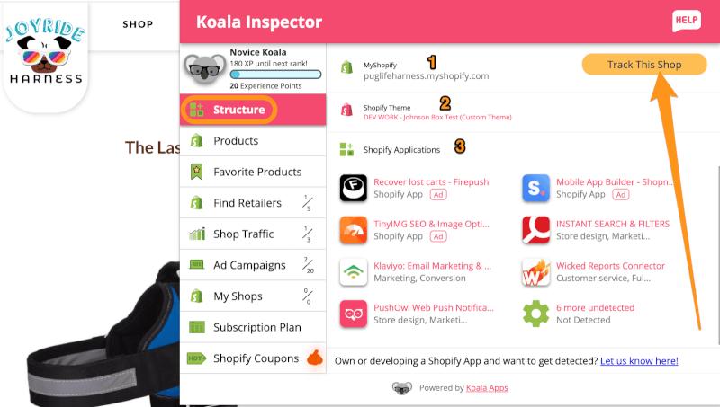 Koala inspector structure