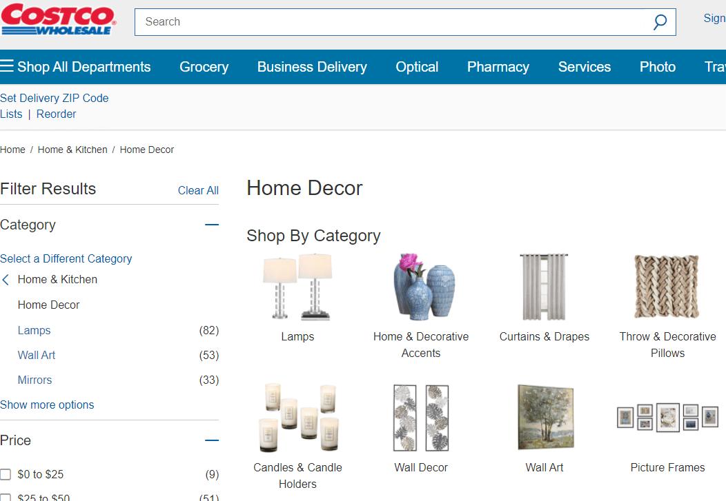 Costco Home Decor Products