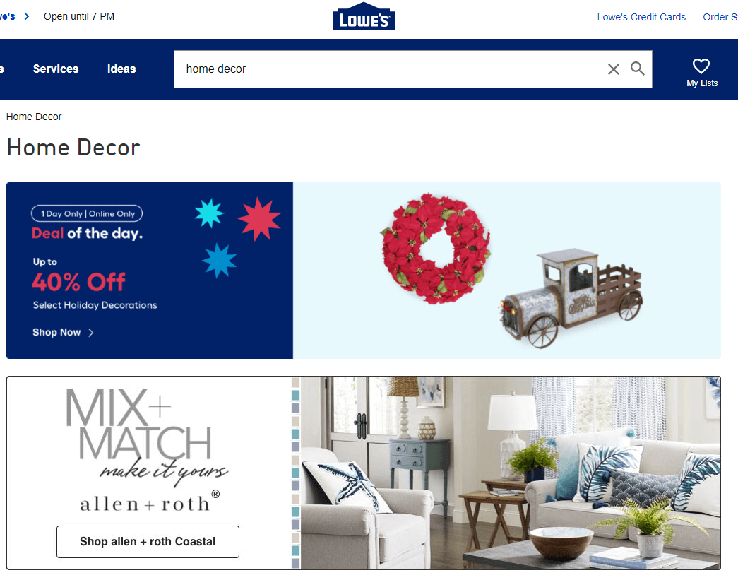 Lowe's Home Decor Products