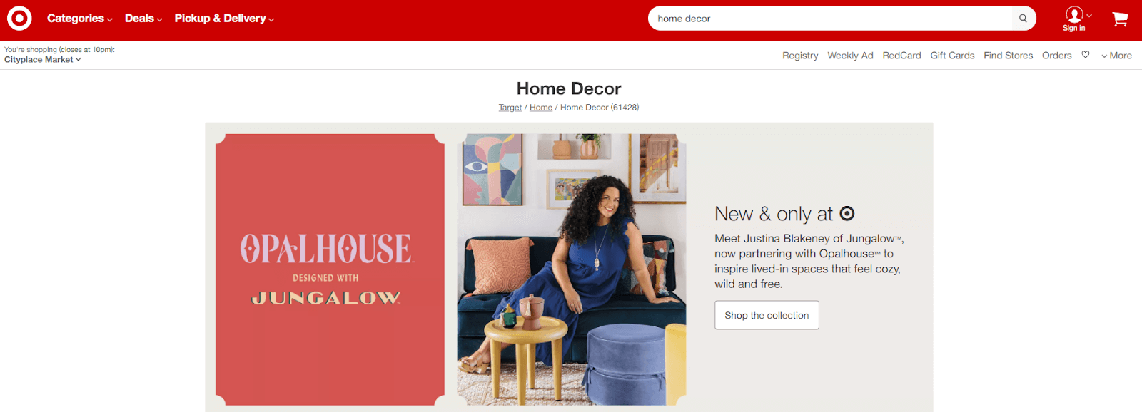 Target Home Decor Products
