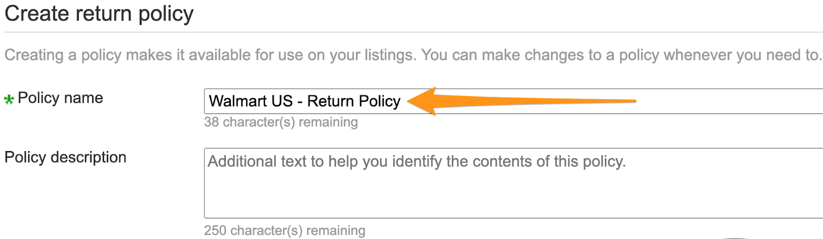 name return policy