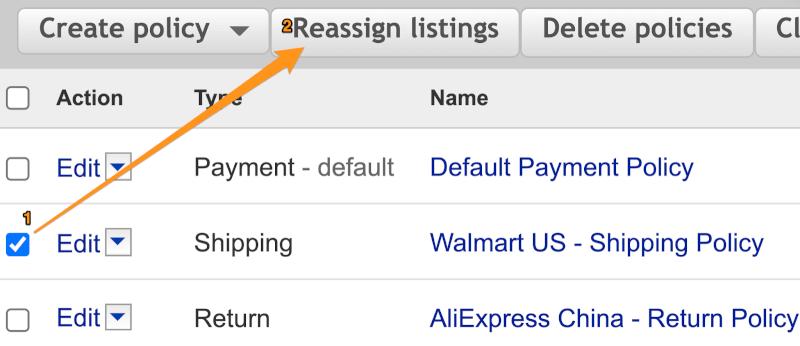 reassign listings ebay