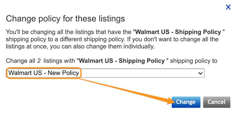 change policy ebay