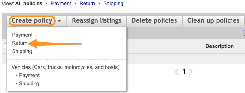 create return policy