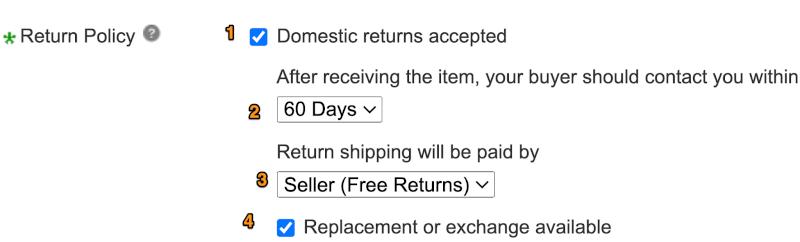 domestic return policy
